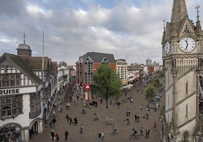 Artist's impression showing the revamped Clock Tower area